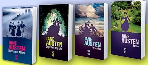 jane austen,édition,oeuvre,traduction,collection complète,couverture,10 18,orgueil et préjugés