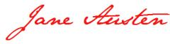 persuasion, jane austen, ecriture, signature
